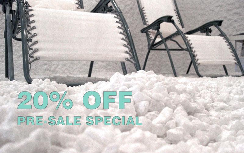 20% off Salt Room packages through December.